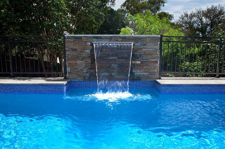 pool water falls design